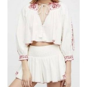 e47e46d619880a 🆕Free People Cherry Bomb Embroidered Top